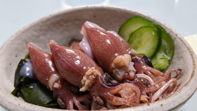 蛍烏賊 ほたるいか(Firefly squid)