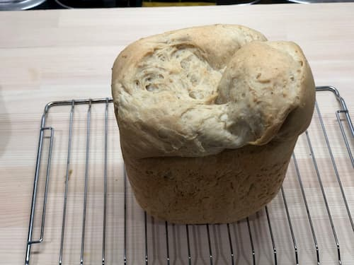 白胡麻の食パン (すり胡麻8%+練り胡麻8%)