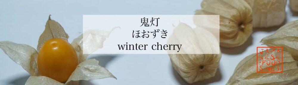 鬼灯 ほおずき(winter cherry)